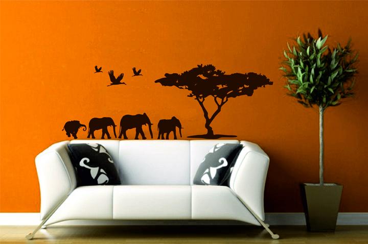 Wandtattoos afrika wandtattoo afrikanische savanne for Wandtattoo afrika