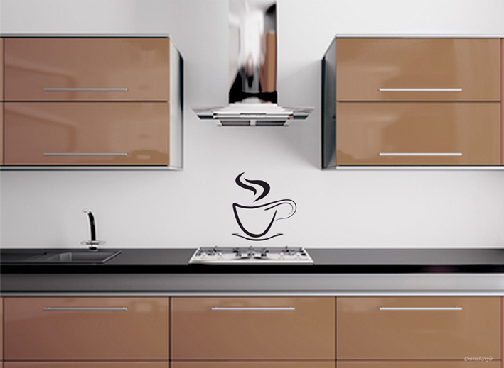 Wandtattoo Design Kaffeetasse Wandtattoos bei centralstyle ...