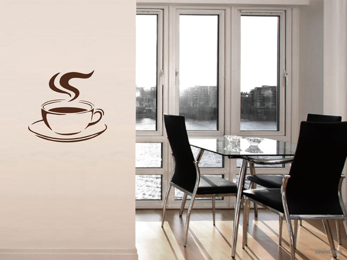 Wandtattoo Kaffeetasse | Wandtattoos Kaffee | Küche ...