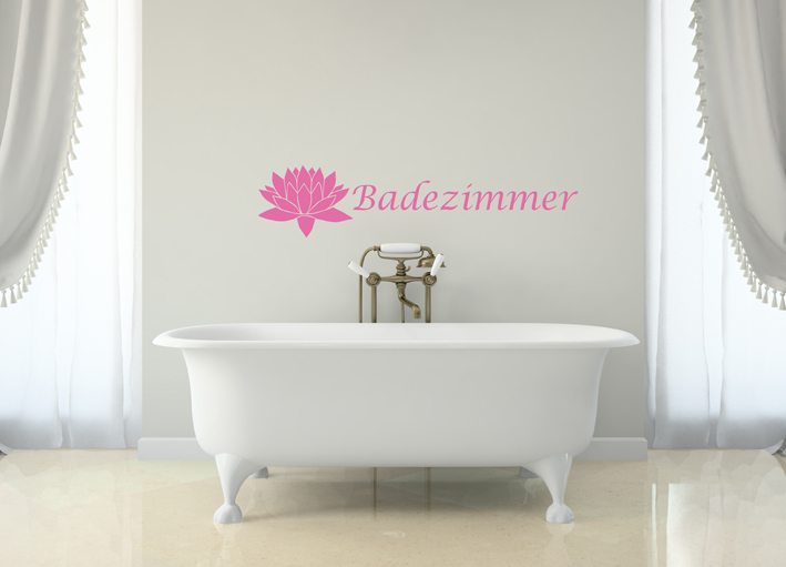 Wandtattoo Badezimmer | Wandtattoos von centralstyle.de