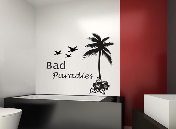 Wandtattoo Bad Paradies | Wandtattoos von centralstyle.de