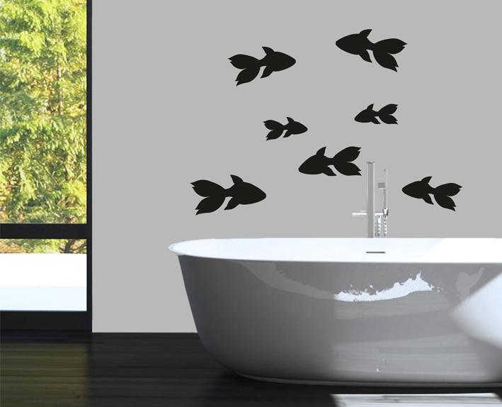 Wandtattoo Badezimmer Fische Set 1 | centralstyle.de