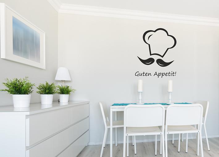 Wandtattoo Guten Appetit mit Kochmütze [4055] - €19.90 -