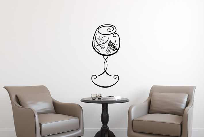Wandtattoo Design Glas